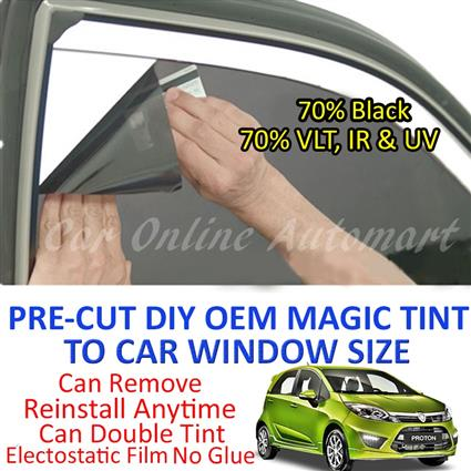 Proton Iriz Magic Tinted Solar Window ( 4 Windows ) 70% Black