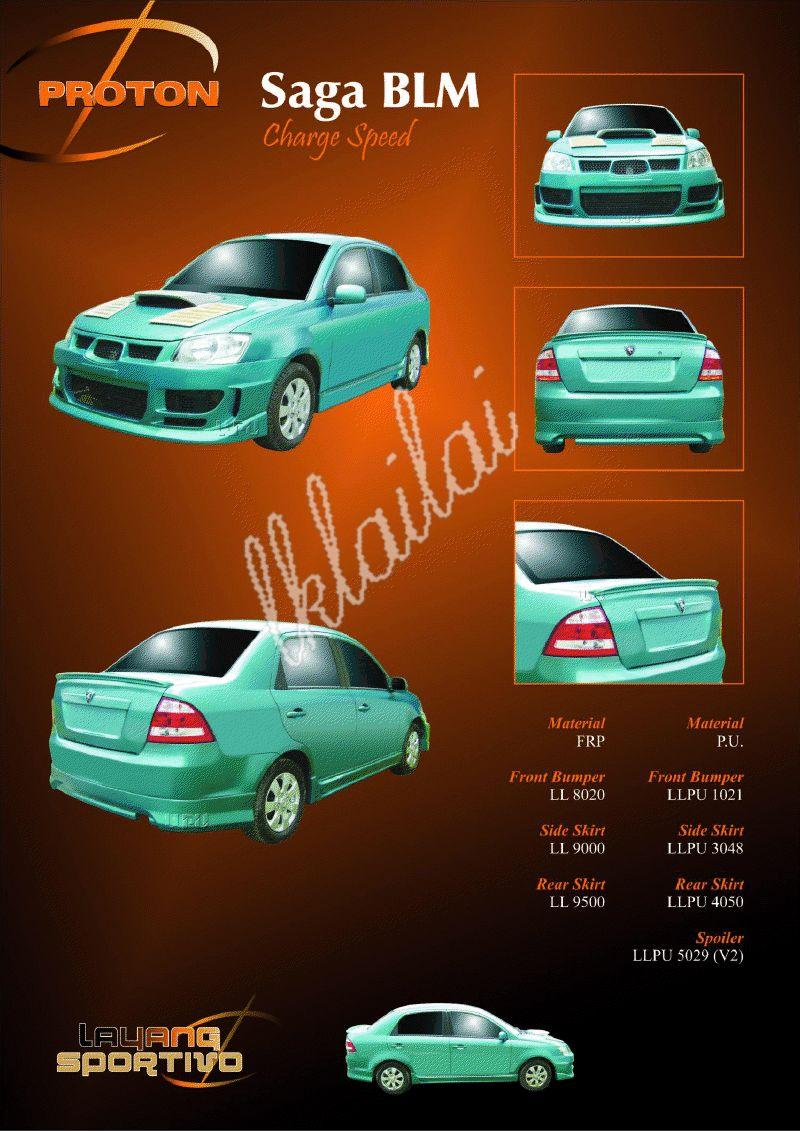 Proton Saga BLM Charge Speed Full Set Body Kit [PU / Fiber]