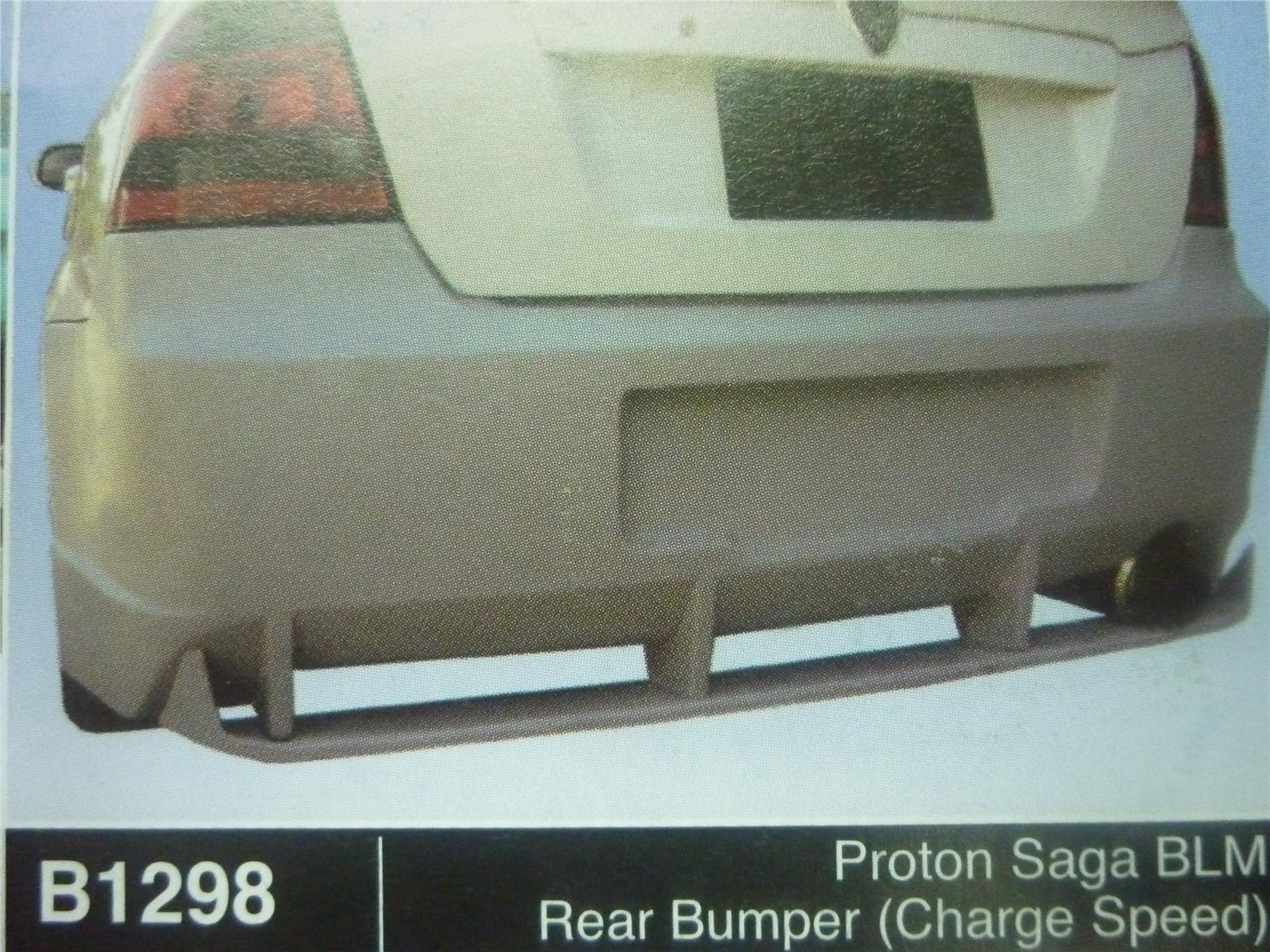 PROTON SAGA BLM REAR BUMPER CHARGE SPEED B1298