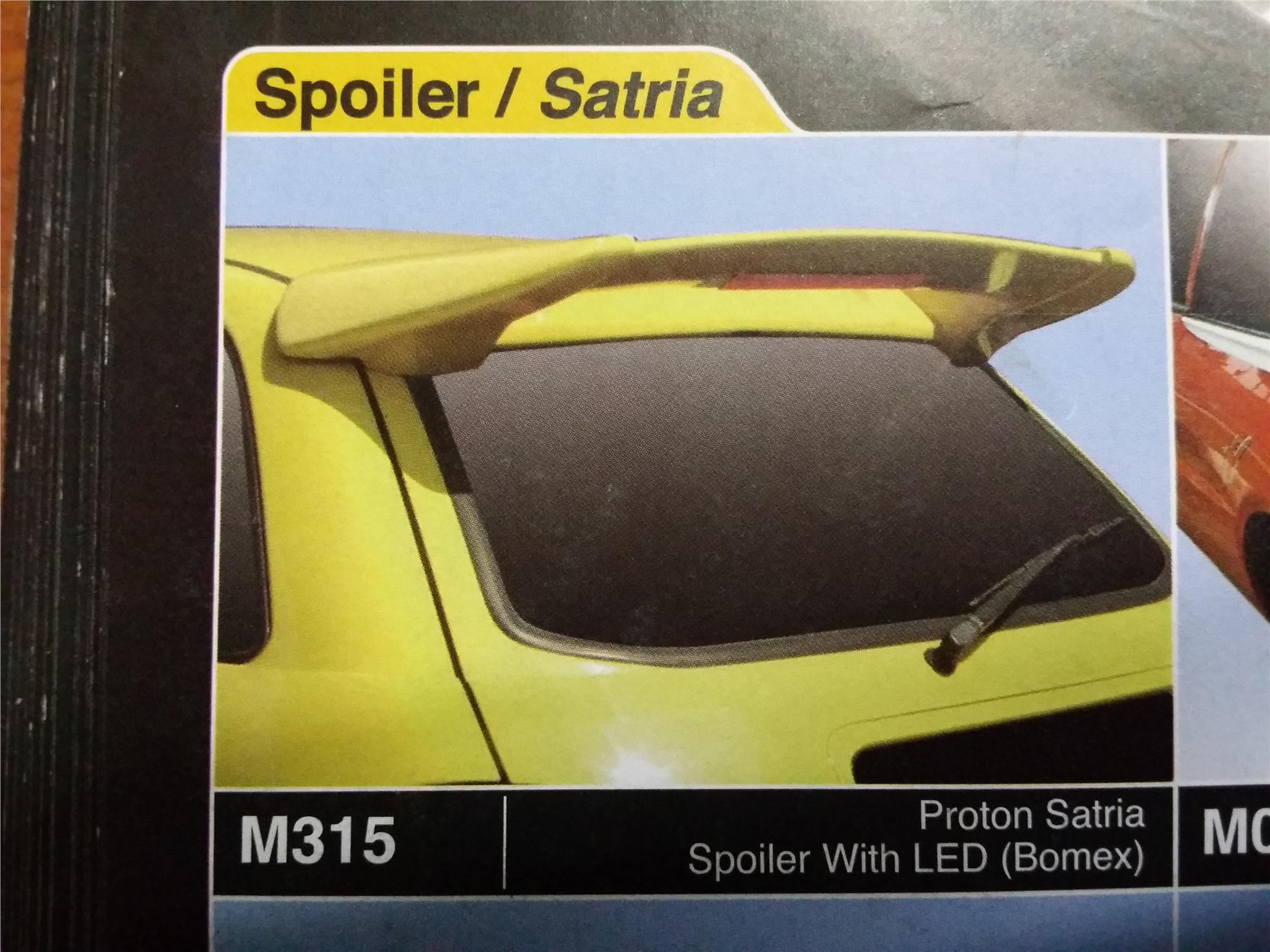 PROTON SATRIA SPOILER WITH LED BOMEX