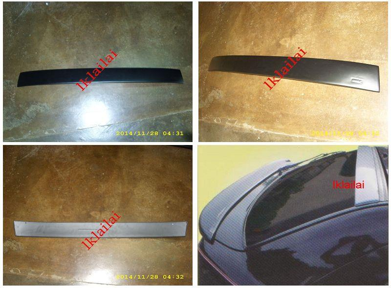 Proton Wira Aeroback Glass / Roof Spoiler With Undercoat [Fiber]