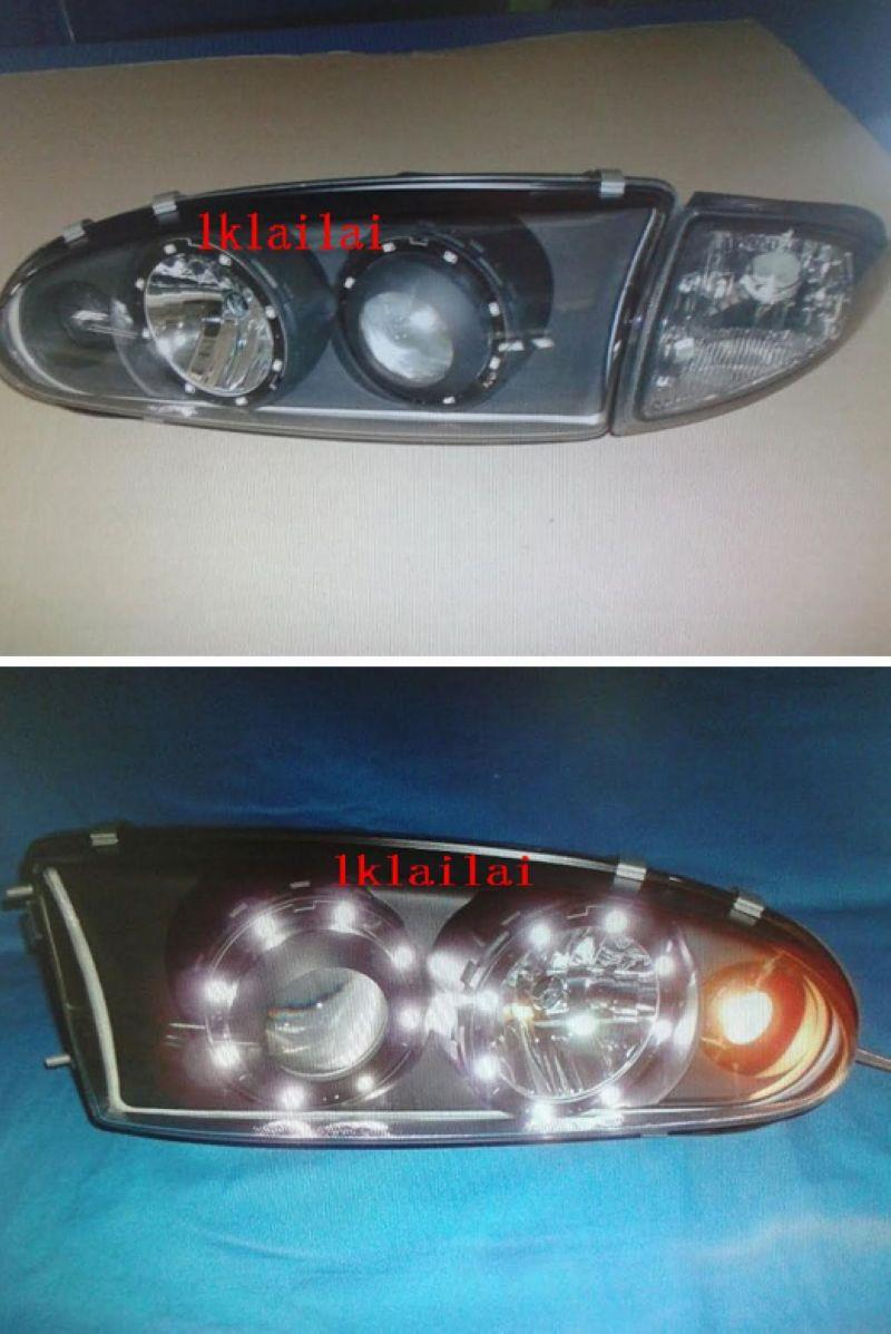 Proton Wira LED Projector Head Lamp with Corner Set [Glass Lens]