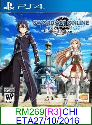 PS4 PREORDER Sword Art Online Hollow Realization (CHI)[R3]★Brand..