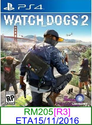 PS4 PREORDER Watch Dogs 2 [R3] ★Brand New & Sealed★