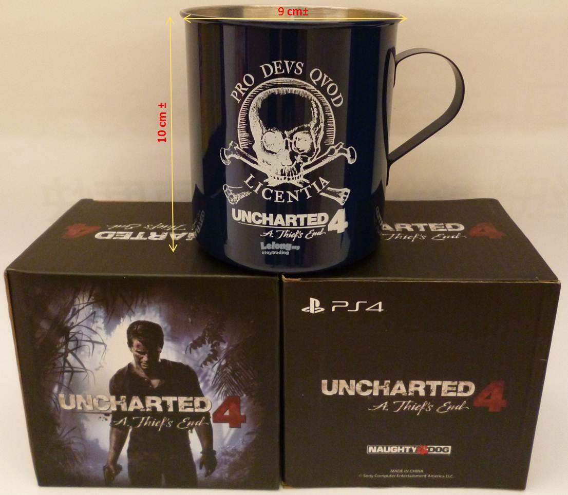PS4 UNCHARTED 4 OFFICIAL STEEL MUG RM30 WHATSAPP/SMS +60102209266