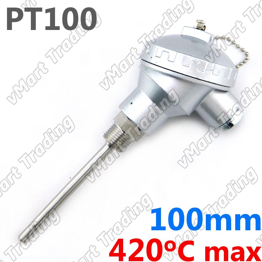 PT-100 Precision Temperature Sensor with 100mm Probe [3-wire]