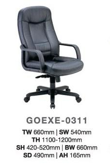 PU Leather Director Office Highback Chair model GOEXE-0311