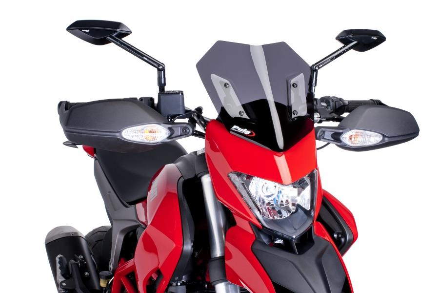 PUIG Windscreen Naked for Ducati HYPERMOTARD (DARK SMOKE)
