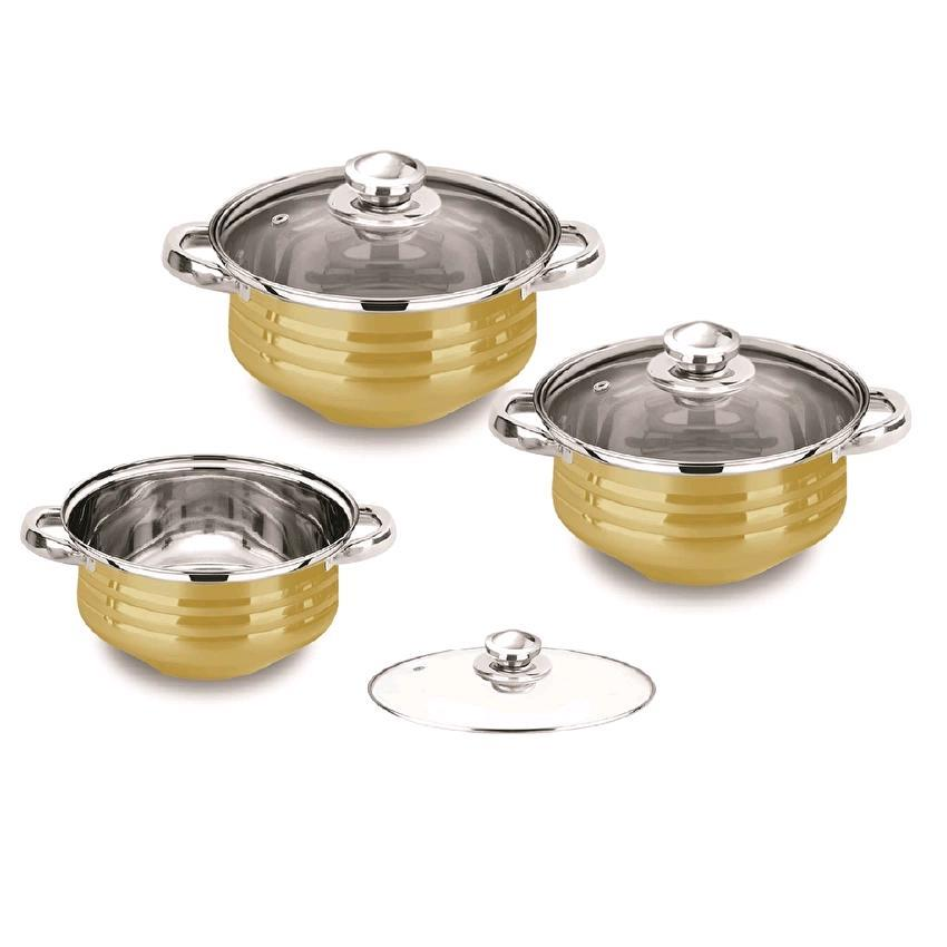 Pumpkin Pot Cookware Set (6 Pcs) Gold