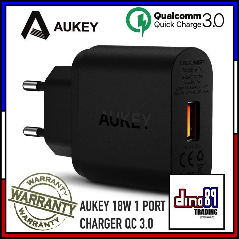 [Qualcomm Certified] AUKEY 18W 1 Port USB Charger Quick Charge 3.0