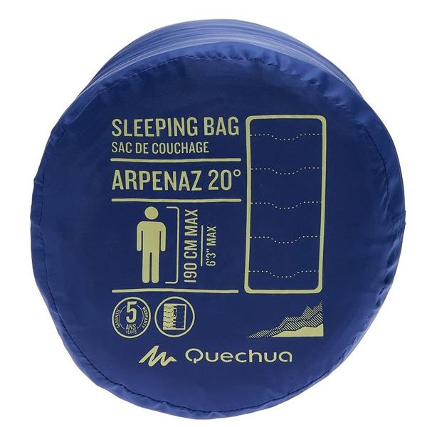 QUECHUA Portable Warm Washable Sleeping Bag for Camping Hiking