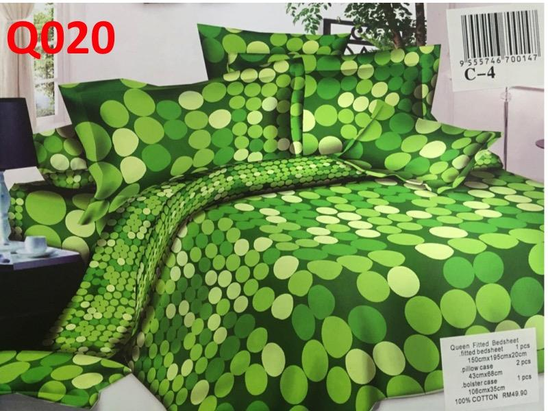 Queen size fitted bedsheet (Q020)