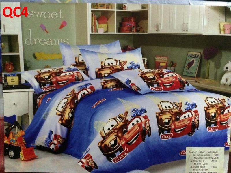Queen size fitted bedsheet (QC4)