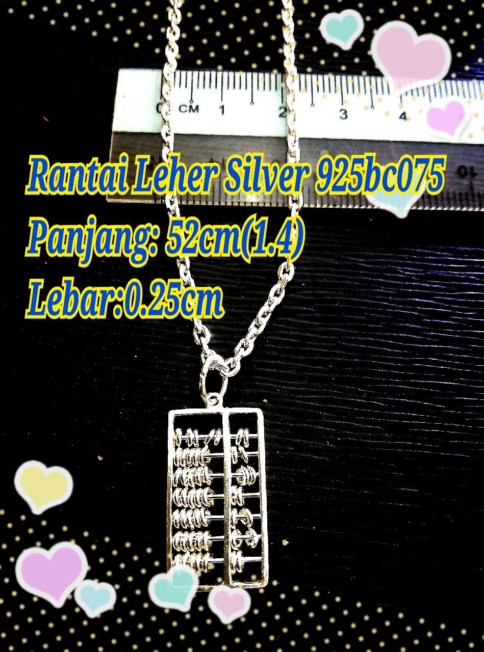 Rantai Leher Silver 925 with Pendant Abacus-bc075-1.4