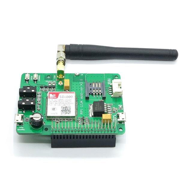 Raspberry pi sim800 expansion board gsm / gprs SMS , support Pi 2/3