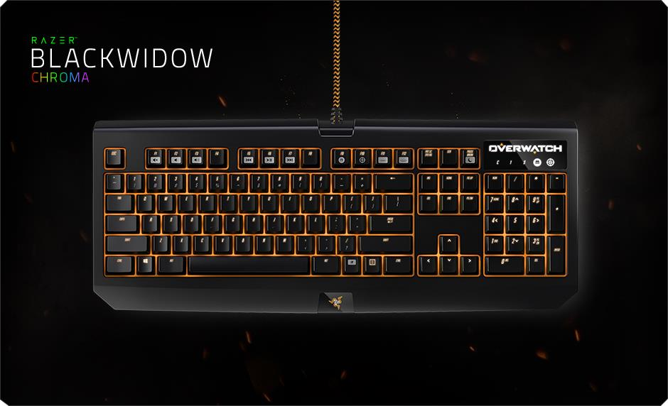 Razer Blackwidow Chroma Overwatch Edition Gaming Keyboard