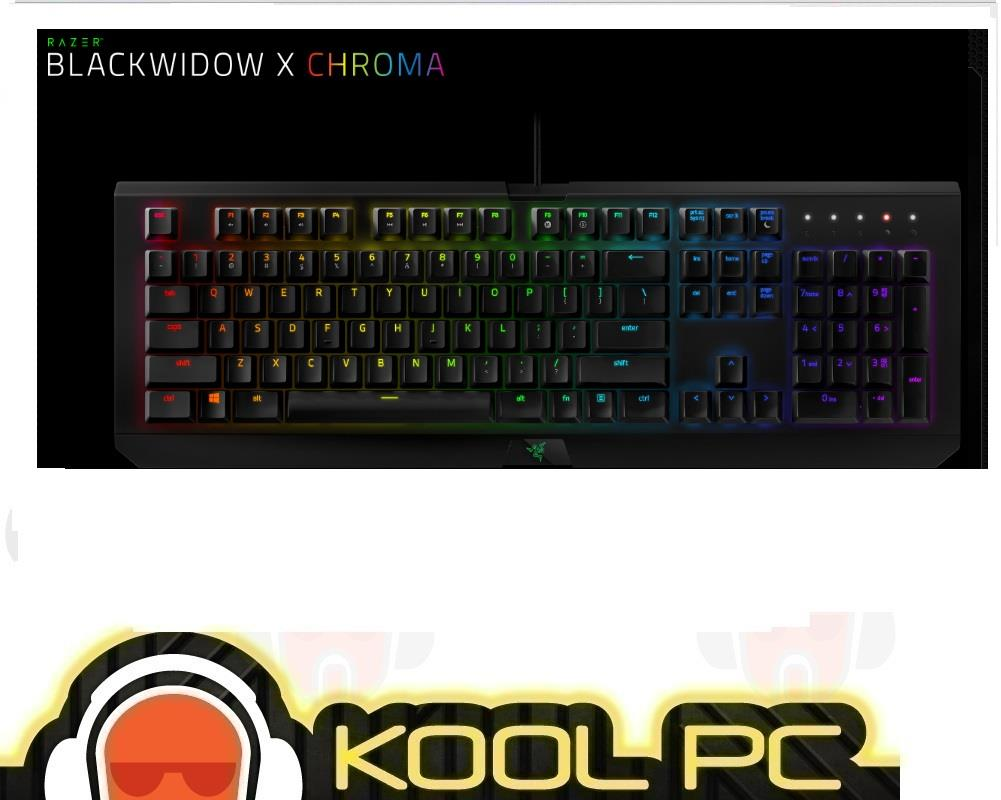 Razer Blackwidow X Chroma Mechanical Gaming Keyboard