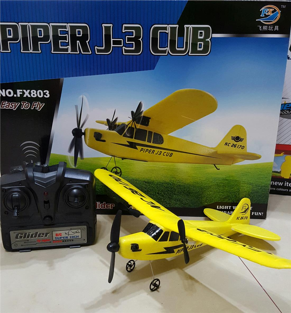 RC Plane Mini Piper J3 Cub 2.4Ghz EPP Glider for Beginner Ready to Fly