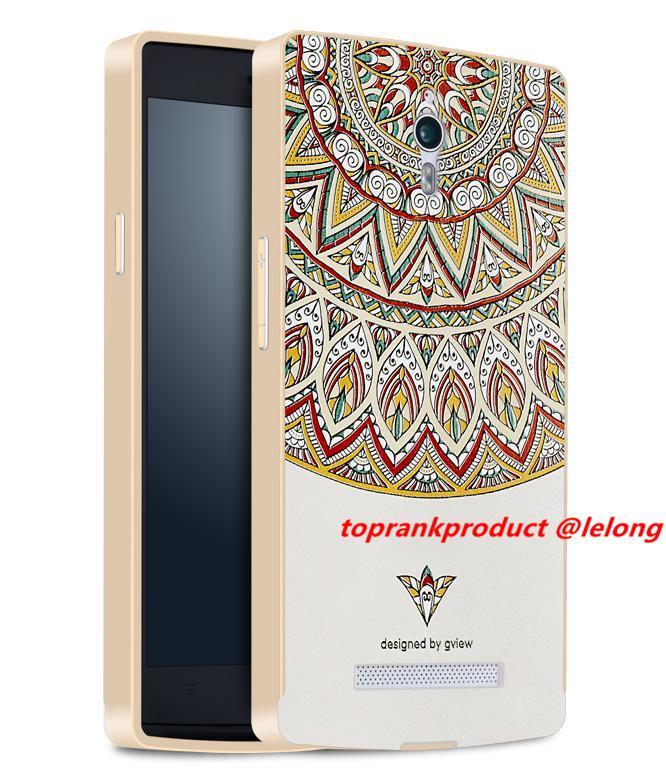 Ready Stock @ OPPO Find 7 7A 3D Relief & Metal Frame Case Cover Casing