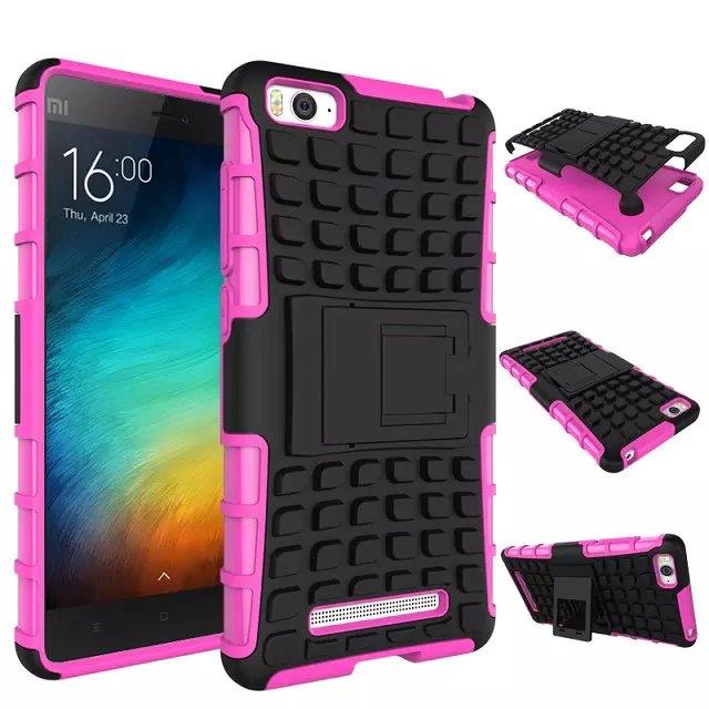 Ready Stock@ Xiaomi Mi 4i 4C Stand Rugged Armor Back Case Cover Casing