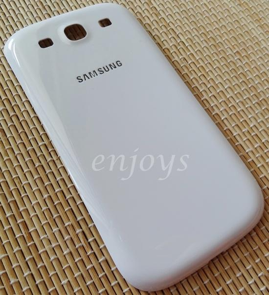 Real ORIGINAL HOUSING Battery Cover Samsung I9300 Galaxy S3 ~WHITE