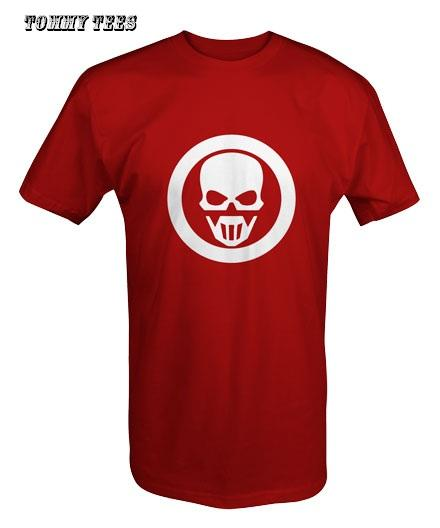 RECON GHOST T SHIRT WHITE/BLACK/RED (T31)