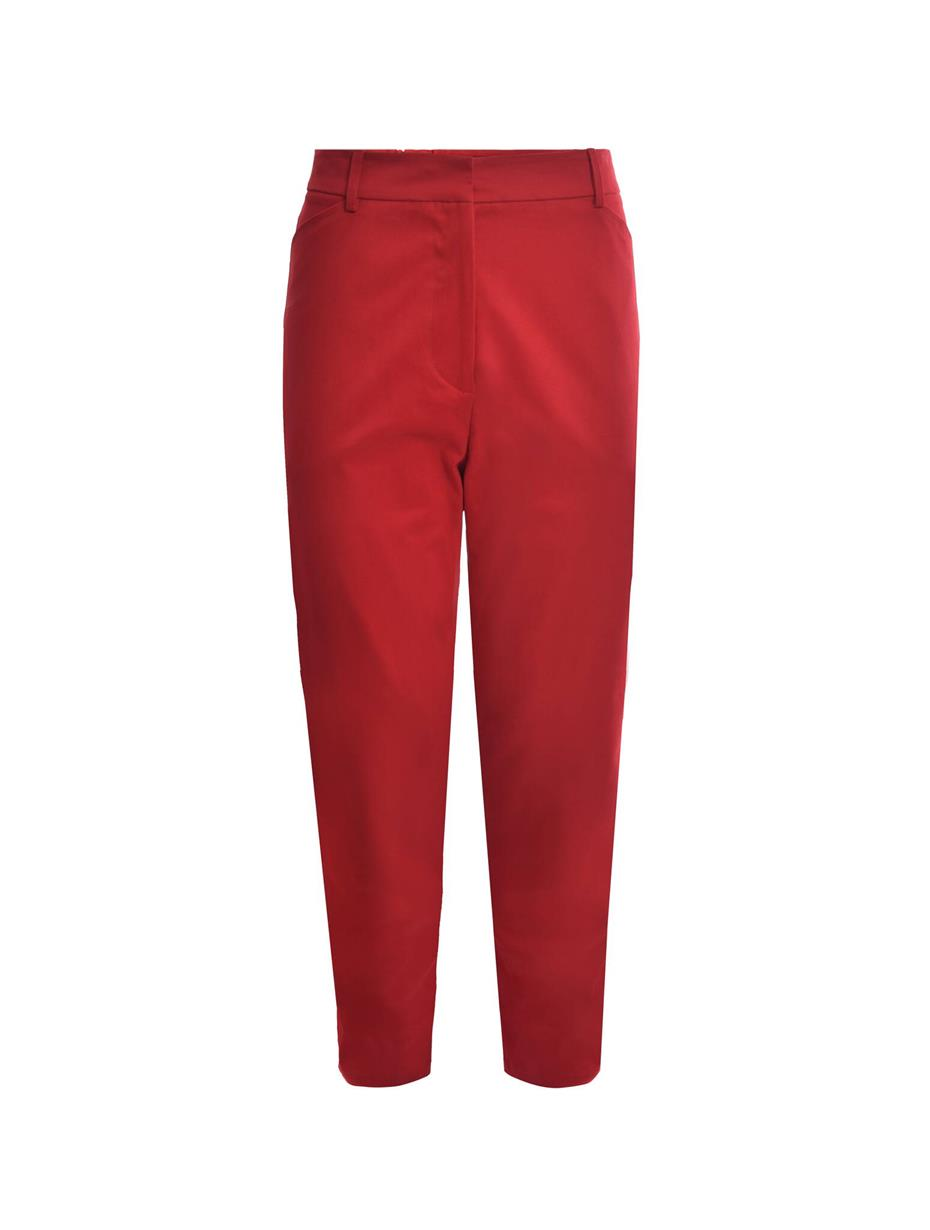 Red Regular Stretch Pant