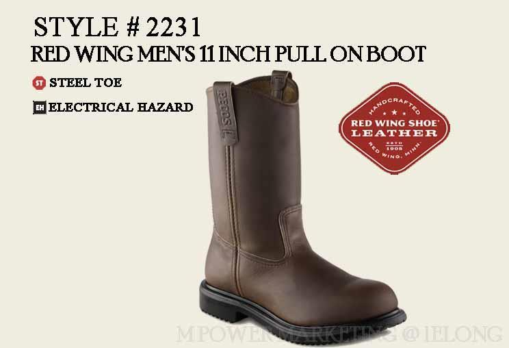 RED WING 2231 MEN'S 11-INCH PULL-ON B (end 9/5/2017 6:15 PM)