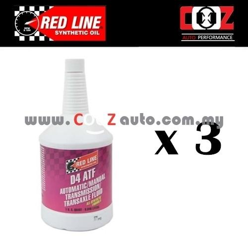 REDLINE GEAR OIL AUTOMATIC TRANSMISSION FLUIDS ATF D4 ( 3 BOTTLE)