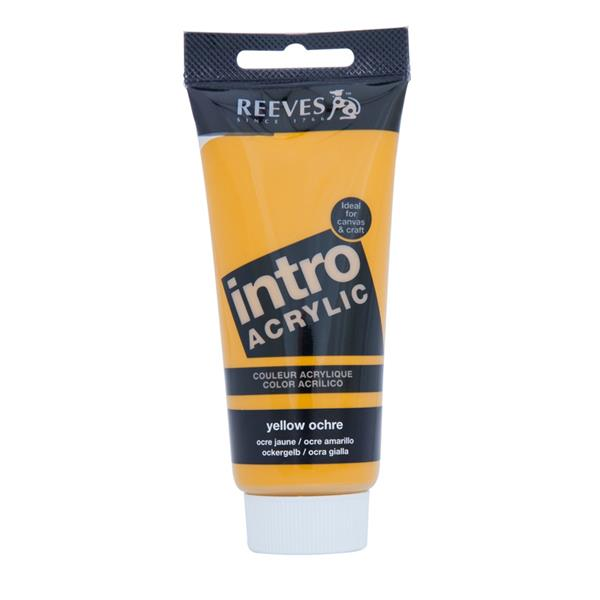 Reeves Intro Acrylic Tube 120ml Yellow Ochre