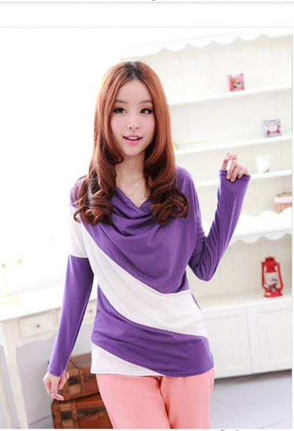 Relax Loose Long-sleeve Blouse (Purple)