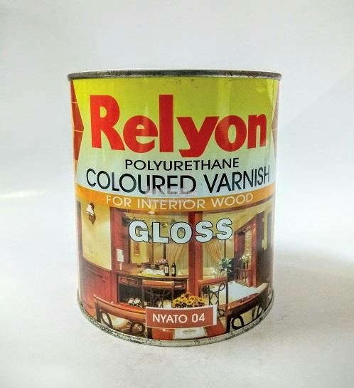 RELYON COLOURED VARNISH WOOD STAIN PAINT 1 LITRE #05 MAHOGANY *SALE