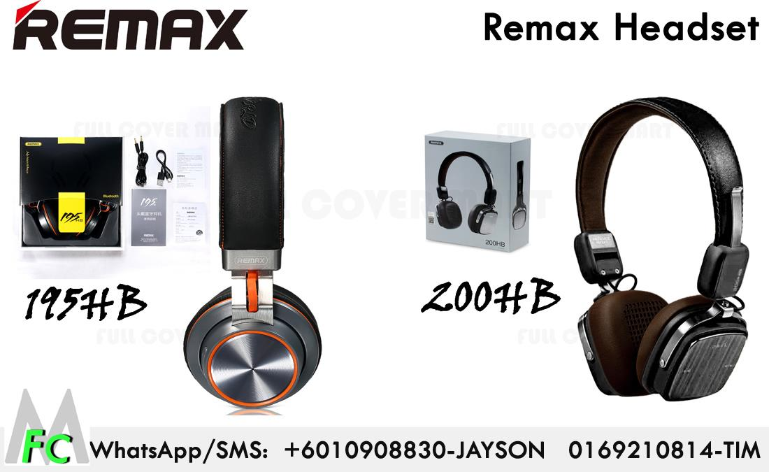 Remax Bluetooth Original Headset Headphone 200HB 195HB