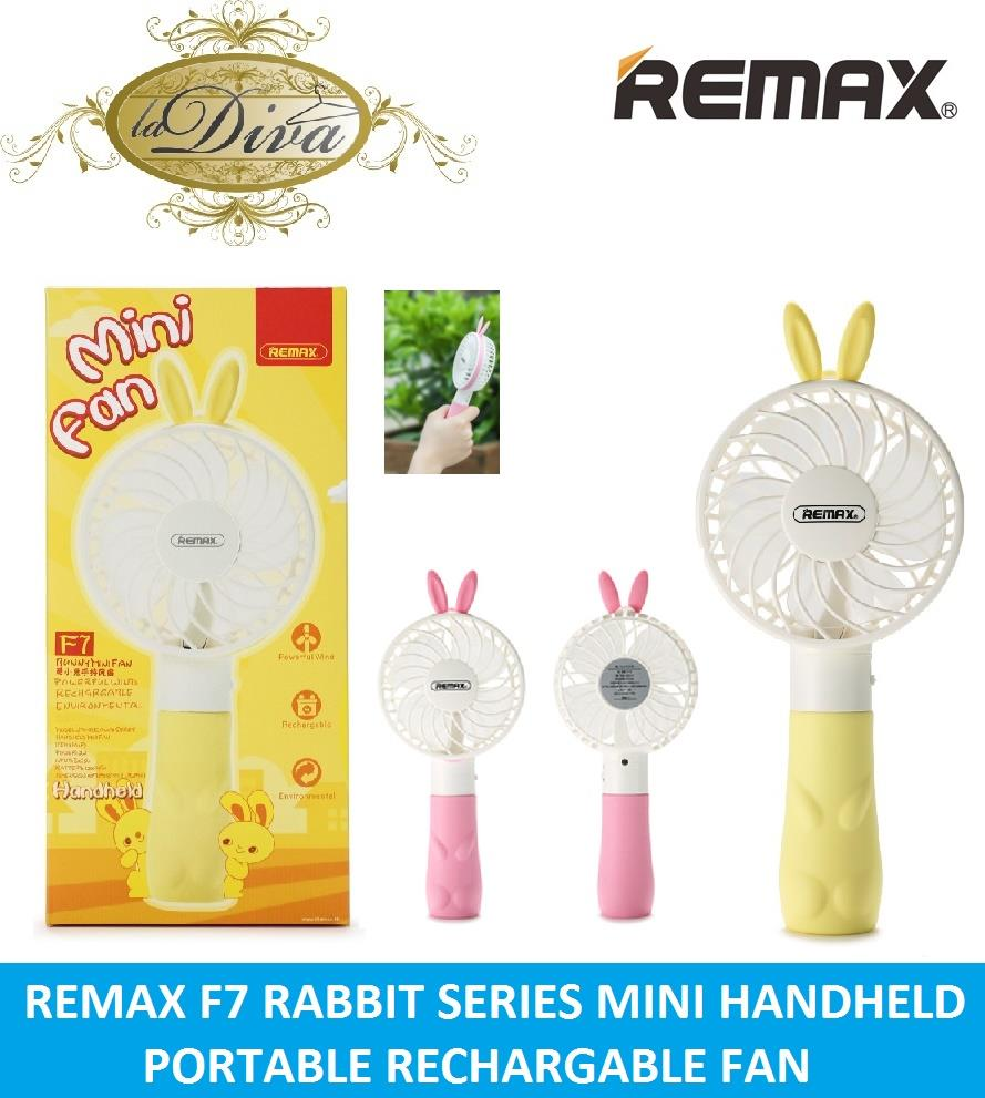 REMAX F7 RABBIT HANDHELD MINI RECHARGABLE USB FAN