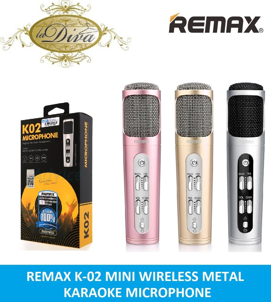 REMAX K-02 MINI PROFESSIONAL METAL KARAOKE MICROPHONE