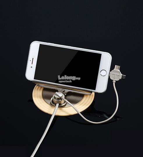 Remax Letto 3 in 1 Magnetic Charging Cable Car Holder