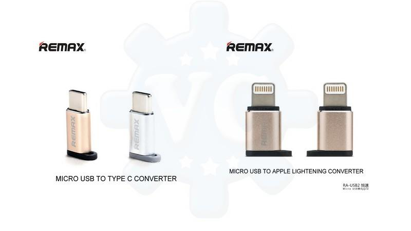 REMAX Micro USB to Type C Lightning Converter Adapter Charging
