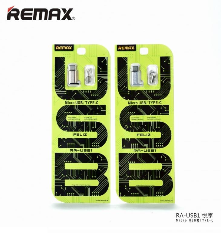 Remax RA-USB1 Micro USB Female to USB 3.1 Type C Type-C Male Adapter