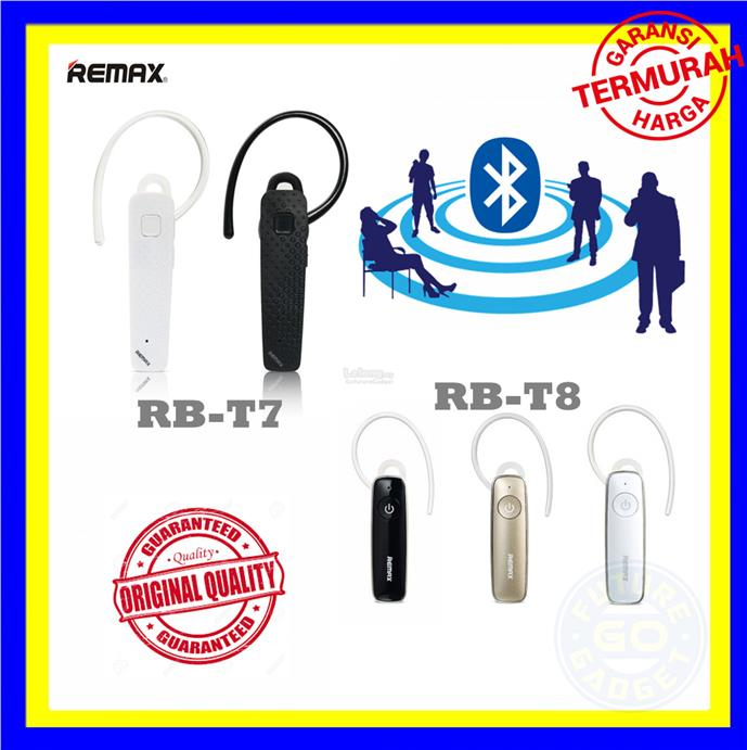 Remax RB-T7 /RB-T8 Bluetooth Headset for Iphone/Android