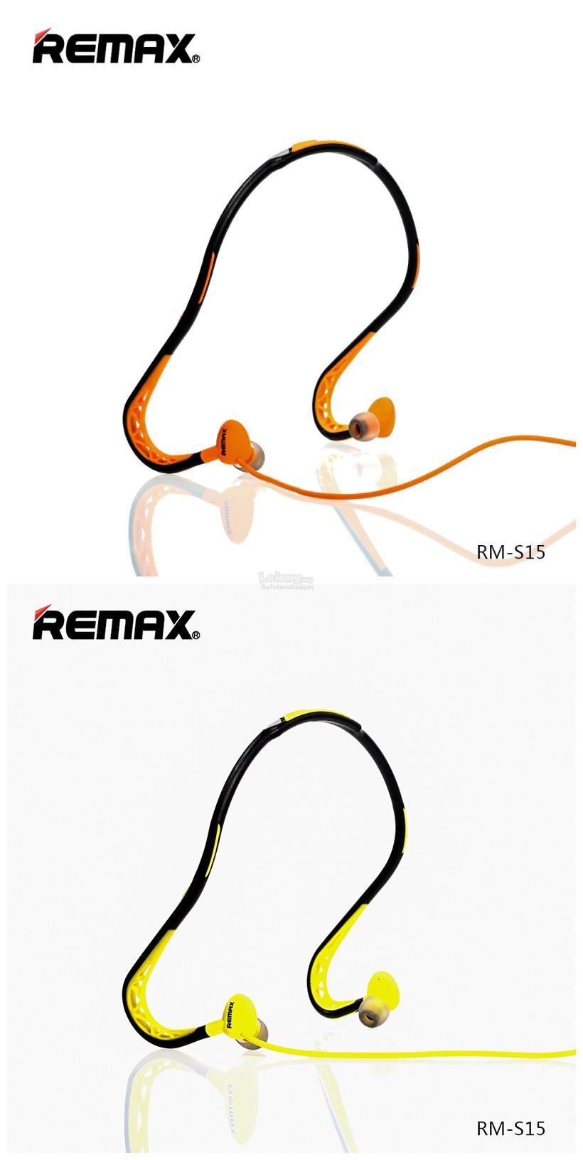 Remax RM-S15 Sports Wired Headset Neckband Headphone Stereo Earpiece