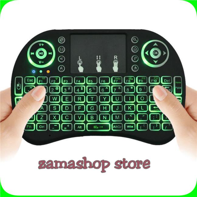 Remote contro keyboard air mouse rii I8 backlit colors android tv box