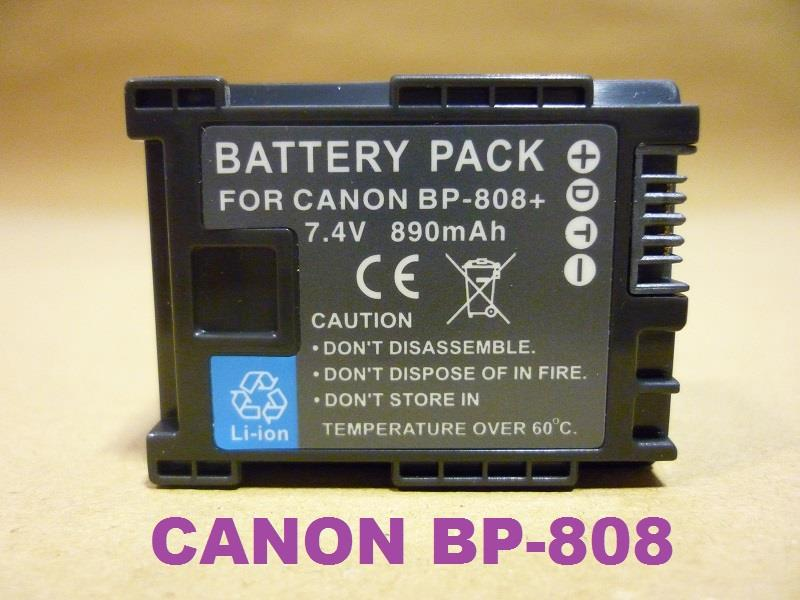 Replacement Battery for Canon BP-808 (Full Decoded)