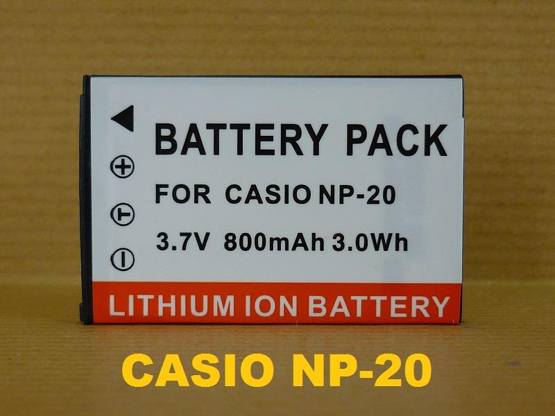 Replacement Battery for Casio CS NP-20