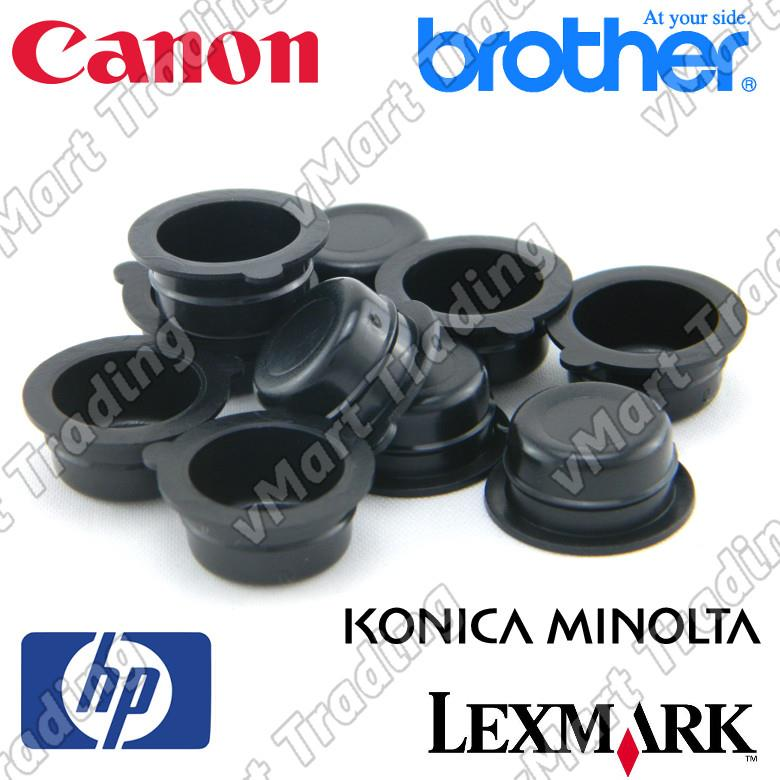 Reusable Laser Printer Toner Refill Hole Cap 14mm OD [10 pieces]