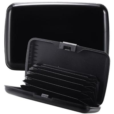 RFID Blocking Convenient Aluminum Metal Card Case/Card Holder-Black