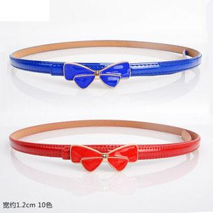 Ribbon Metallic Thin Belt