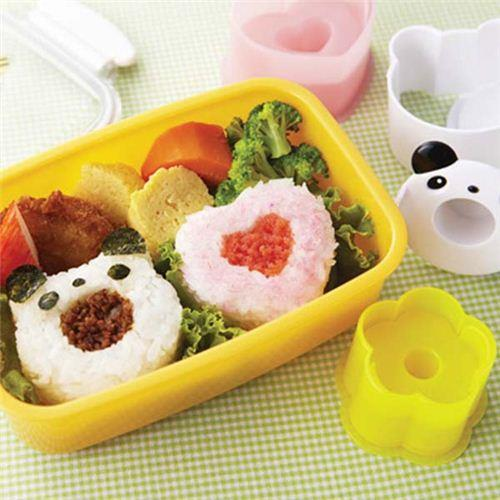 Rice Ball Mold Panda Bear Heart Flower Bento Onigiri Shaper