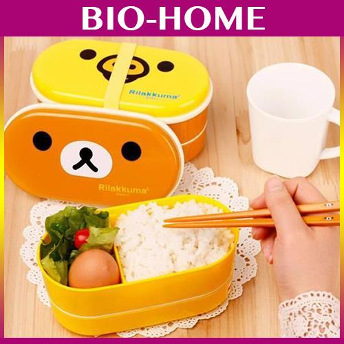 RIlakkama Cute Bear Portable Travel Camping Work Container Lunch Box