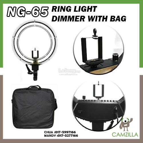 Ring Light NG-65 Adjustable Tube Light Brightness with Dimmer