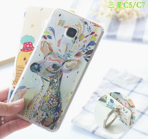@Ring Samsung C5 C7 Back Case Cover Casing